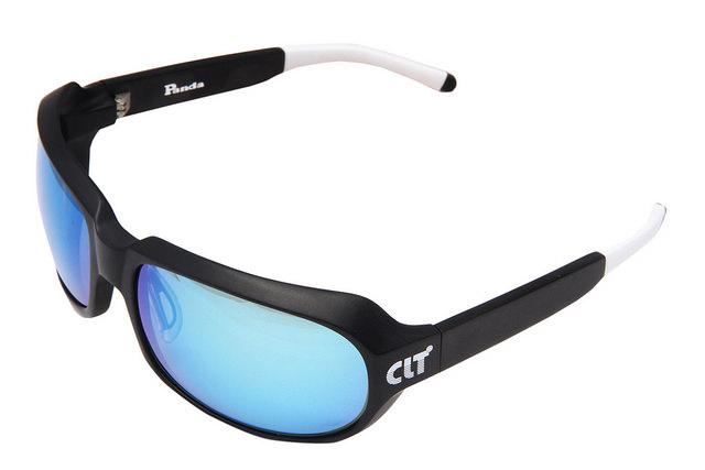 CLT Panda(パンダ)マットブラックXグリーンスモーク/ブルーミラー(clt-150683) 偏光サングラス サイトフィッシング サイクリング アウトドア アイウェア