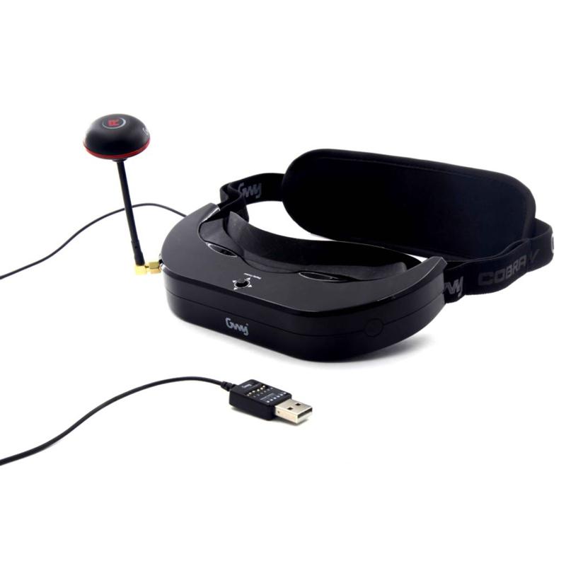 DTS Cobra V Goggles FPV ゴーグル 5.8Ghz 40CH 7.2インチ 190g軽量 解像度854*480 (gwy006824) ドローン|ラジコン ヘリコプター 関連商品 DTS 本体セット