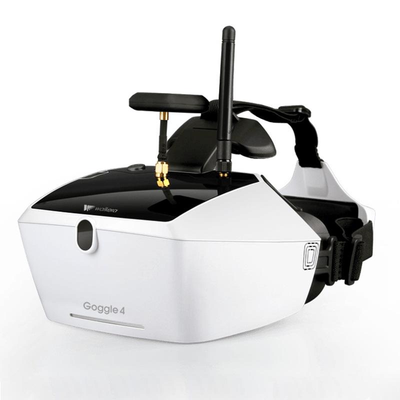 ワルケラ ゴーグル4 FPV メガネ 5インチ 5.8Ghz 40CH ダブルアンテナ バッテリー内蔵 (goggle4) | ラジコン ドローン walkera