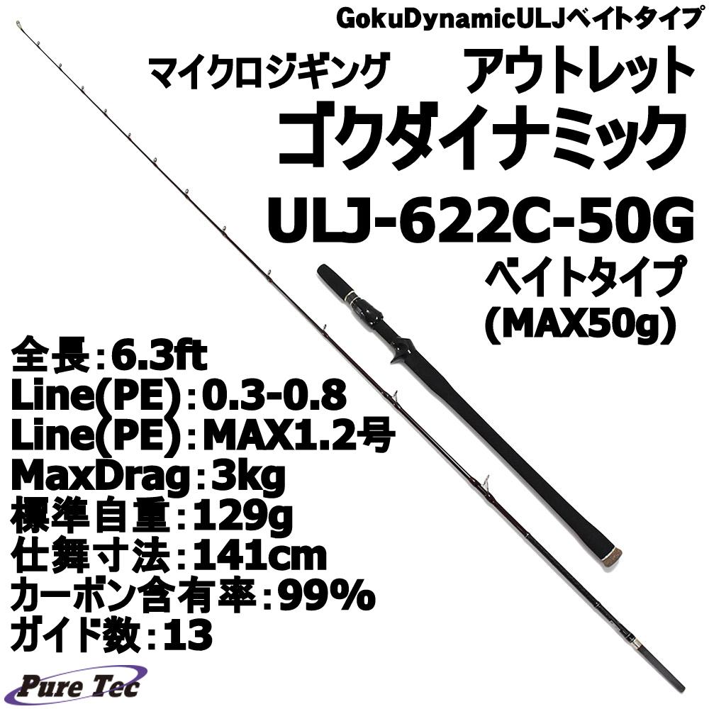 【アウトレット】 ゴクダイナミック ULJ-622C-50G ベイトタイプ (Luer wt:MAX50g) (out-in-954170)