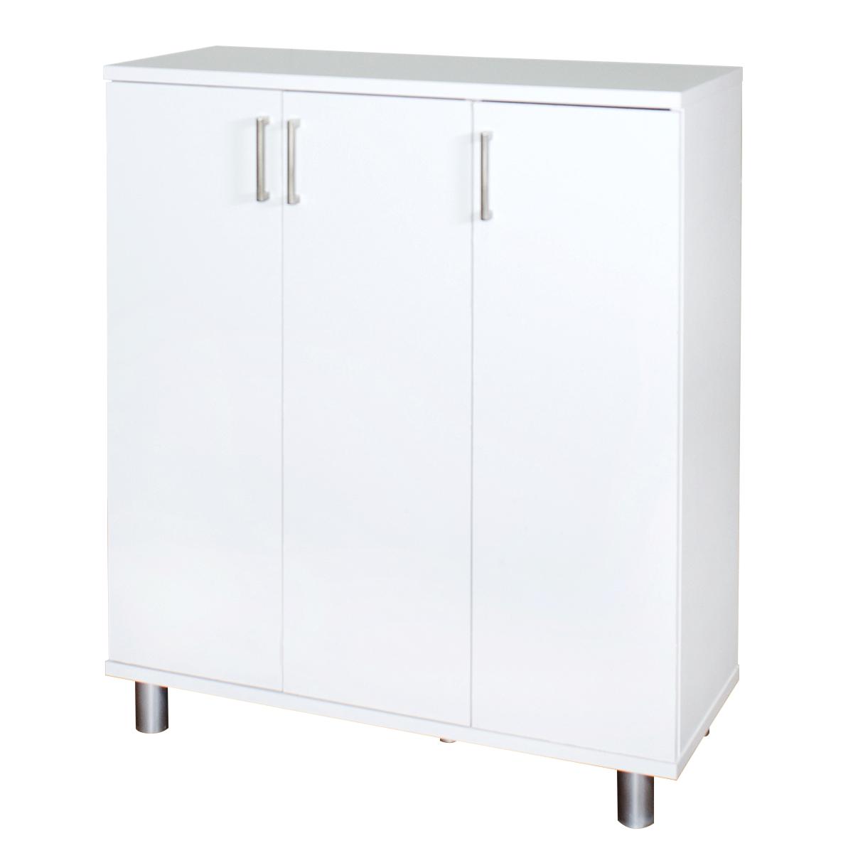 シューズボックス 下駄箱 玄関 シンプルでスッキリしたデザインの下駄箱・シューズラック。幅約90cm、ホワイト・白。幅878×奥行353×高さ994mm