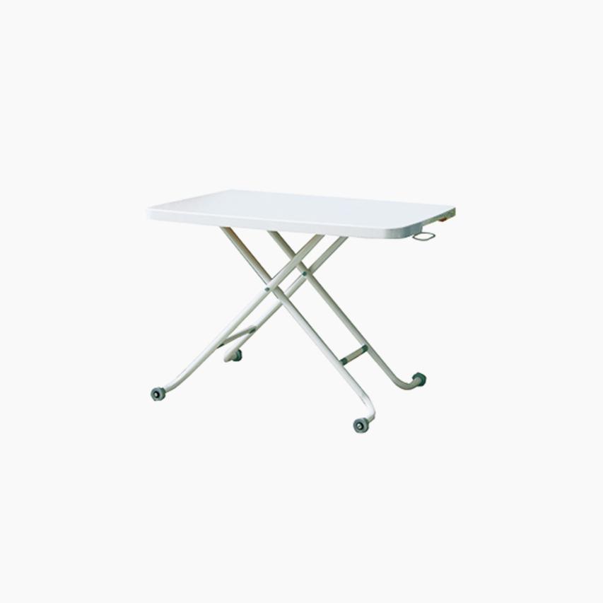 テーブル 昇降テーブル CU ガルト パソコン ホワイト 幅90 リフティングテーブル