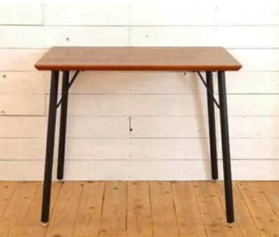 ダイニングテーブル テーブル 幅90cm 2人用 ウォールナット スチール脚 デザインテーブル ビンテージ風(テーブルのみ) ヴィンテージ おしゃれ カッコイイ 男前 インテリア シンプル