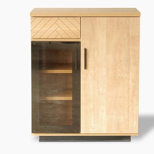 キャビネット 木製 ガラス 北欧 本棚 オシャレ 収納ラック 収納棚 食器棚 ラック おしゃれ リビング レトロ モダン シンプル サイドボード 壁面収納 幅70cm