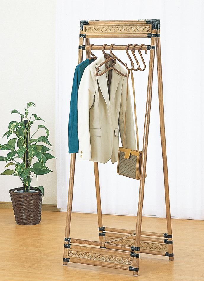 ハンガーラック 籐,ラタン ラック 籐ハンガー かわいい おしゃれ 55cm 折りたたみ アジアン 和風 木製 クラシック 北欧