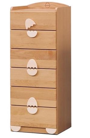 チェスト45-6段【エッグ-egg】/ 子供家具 ベビー家具 /衣類収納 引き出し付き 整理ダンス ベビータンス ベビーダンス