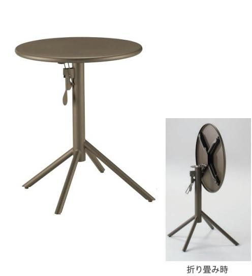 テーブル 丸テーブル 幅61×奥行61×高さ73cm 61丸 キッチンテーブル ラウンド 折り畳みテーブル デスク 業務用