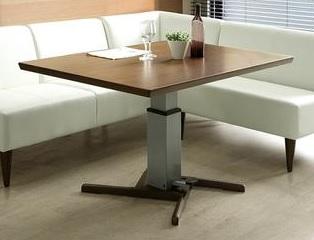 昇降式テーブル 昇降テーブル 幅120cmリフティングテーブル リビングテーブル ダイニングテーブル 多目的テーブル ウォールナット 作業台 北欧 モダン 木製 おしゃれ