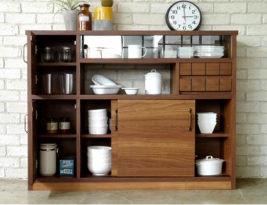 キッチンカウンター120 キッチンカウンター 収納たくさん キッチン回り収納 収納キッチンキャビネット COLK 間仕切り 間仕切りカウンター