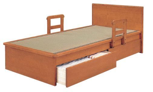 最高級 畳ベッド 木製 ベッド 木製 平戸2型 たたみベッド シングルベッド 平戸2型 シングルサイズ 手すり2本付き たたみベッド 引き出し別売り, ポスターパネルクリエイトショップ:153365b1 --- canoncity.azurewebsites.net