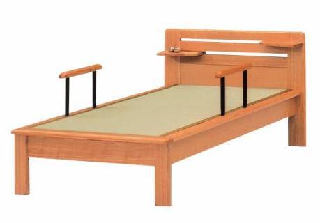 畳ベッド シングルベッド ベッド 木製 たたみベッド シングルベッド たたみベッド ナチュラル (手すり・ベッドシェルフ別売りです。)