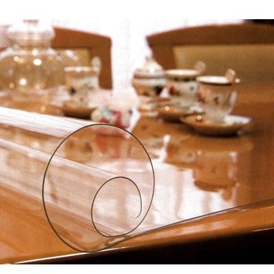 テーブルマット 透明 直営ストア ビニール テーブルクロス オーダー 1mm厚透明テーブルマット 90×150cm以内 日本製 ギフ_包装 別注 透明マット 変型マット
