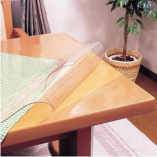 テーブルマット 両面非転写テーブルマット (非密着性タイプ)定型サイズ(約90×180cm) 2mm厚 テーブル テーブルマット ビニールマット テーブルクロス【既製 角落とし すべり止めシール付き】