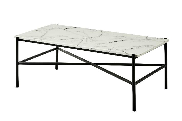 テーブル 大理石調リビングテーブル 120cm おしゃれ かっこいい モダン シンプル