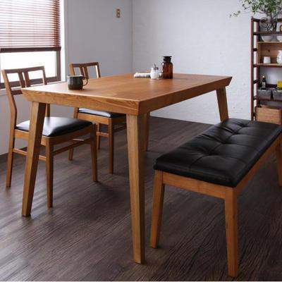 ダイニングテーブルセット ダイニング4点セット リビングダイニング ベンチ 4人掛け 4人用135cm 食卓テーブルセット ダイニングテーブル ダイニングテーブル無垢 カフェテーブル ヴィンテージ