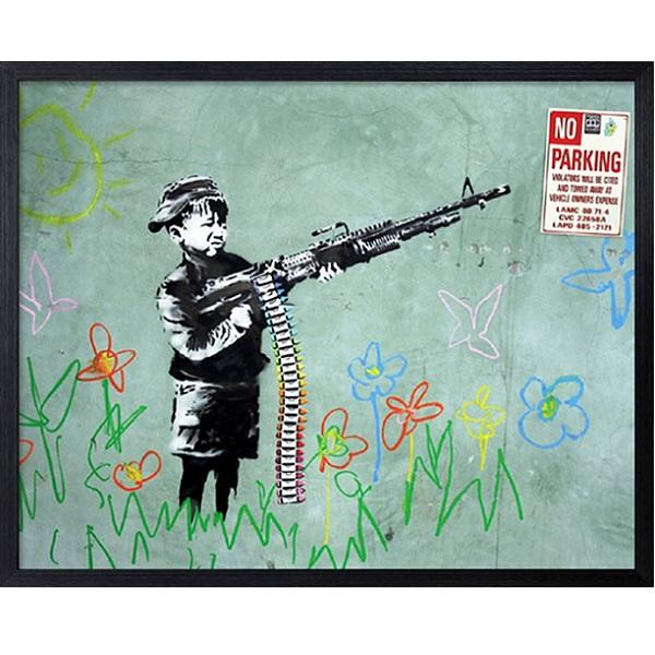 バンクシー Banksy ポスター No Parking アートパネル アートポスター インテリア 額 壁掛け おしゃれ