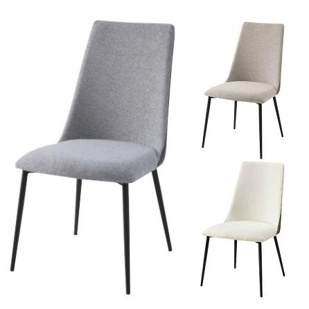 ダイニングチェア 2脚セット 食卓椅子 椅子 イス 布 ベージュ・サンドベージュ・グレー 北欧 おしゃれ 人気