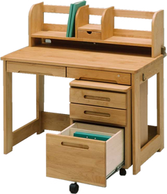 【今すぐ使える割引クーポン発行中】【日本製】国産 学習机106 自然塗装  アルダー材 木製デスク デスク 机