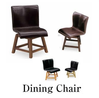ダイニングチェア チェア単品 BAR チェア イス 椅子 ブラウン ナチュラル チェア 北欧風 レザー PVC 回転 肘無し回転チェア おしゃれ