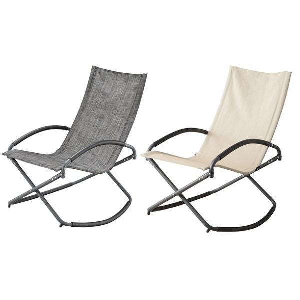 ロッキングチェア 2脚セット リラックスチェア 軽量 椅子 ロッキング チェアー コンパクト 折り畳み チェア バーベキュー キャンプ アウトドア アイボリー