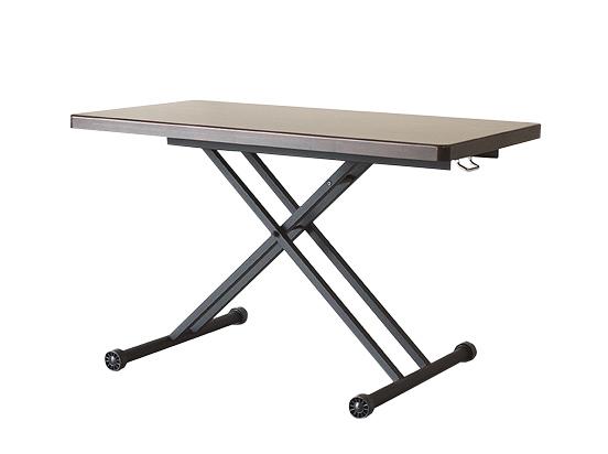 テーブル 昇降テーブル 幅120cm アルダー リフティングテーブル120 ブラウン 昇降式 リフト