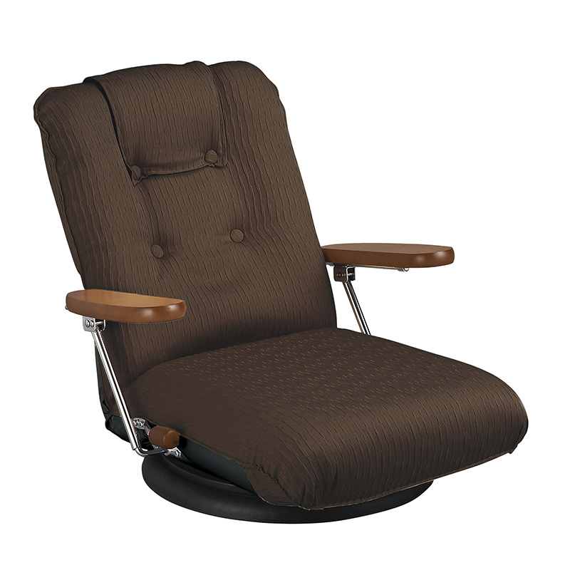 座椅子 座いす ポケットコイル リクライニング チェア ソファ ソファー フロア 一人掛け 座イス 肘付き こたつ 座いす 一人掛け ソファ あぐら おしゃれ ハイバック ワイド かわいい ブラウン 日本製 おしゃれ 13段階 ys-p1375
