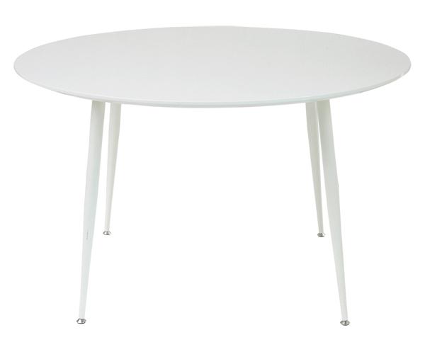 ダイニングテーブル 直径120cm 円形天板 ホワイト 白 テーブル 丸テーブル 円形テーブル 120cm 丸(テーブルのみ)