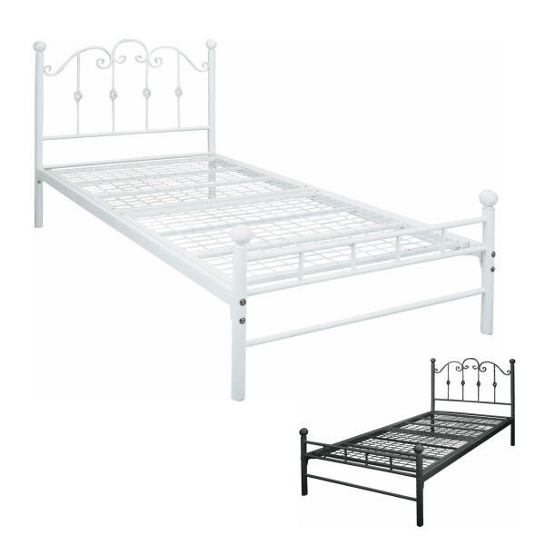 ベッド シングルベッド マットレス付き BSK-905SS ブルジット 姫系 アイアンベッド おしゃれ プリンセスベッド