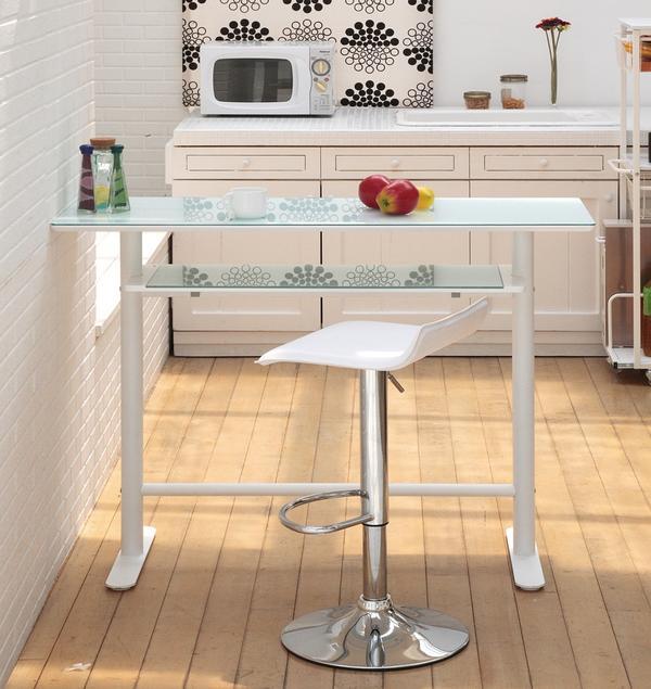 カウンターテーブル 120 ブラック・ホワイト 幅120×奥行き45×高さ90cm キッチンテーブル ハイカウンター 棚付 ハイテーブル デスク 棚付き バーカウンター バーカウンターテーブル いすは別売り