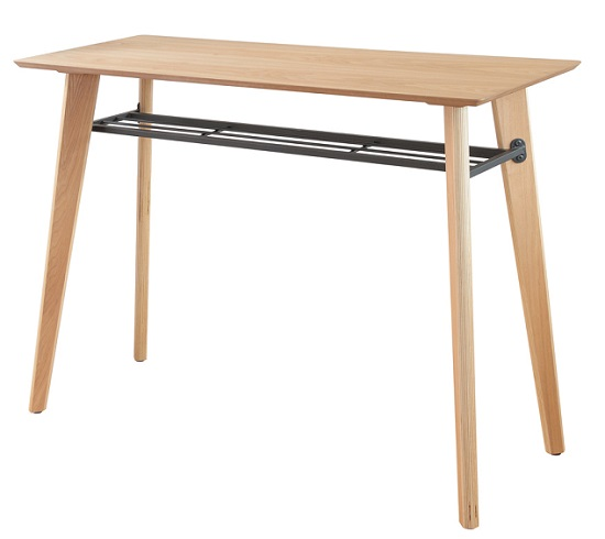 カウンターテーブル 120 幅120×奥行き45×高さ90cm キッチンテーブル ハイカウンター 棚付 ハイテーブル デスク 棚付き バーカウンター バーカウンターテーブル (チェア別売り)