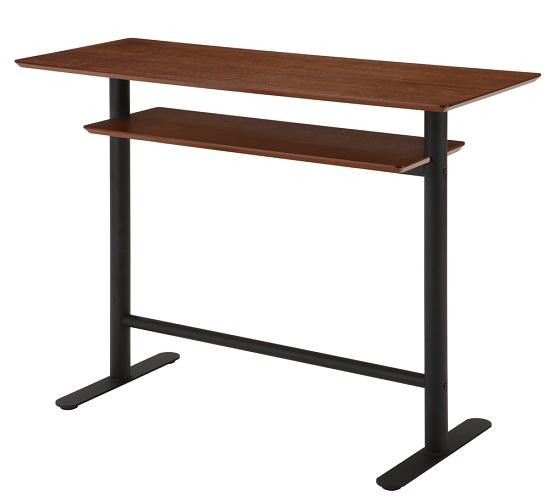 お買い得モデル カウンターテーブル 120 棚付き 幅120×奥行き45×高さ90cm デスク キッチンテーブル ハイカウンター 棚付 ハイテーブル デスク 棚付き 120 バーカウンター バーカウンターテーブル いすは別売り, 防犯対策館:90e8ee0a --- jf-belver.pt