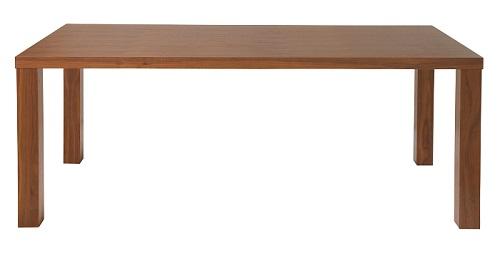 ダイニングテーブル 幅180cm 奥行85cm ウオールナット突板 木製 北欧 カントリー シンプル ヴィンテイジ ブラウン