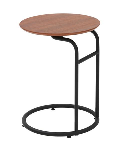 サイドテーブル アイアン テーブル アイアン かわいいブラック ウオールナット突き板