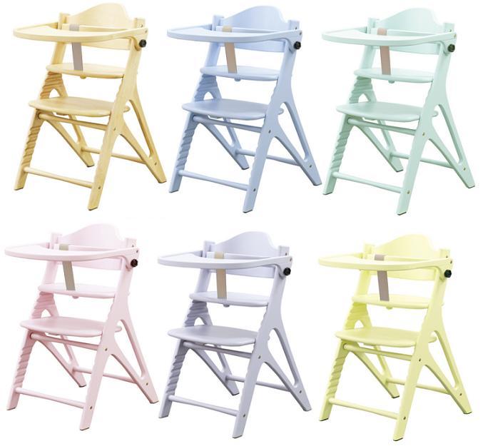 ベビーチェア キッズチェアー アッフルチェア 子供椅子 木製 ハイチェア テーブル&ガードタイプ(チェア本体のみ)ベビーイス食卓イス 子供家具 ベビー家具