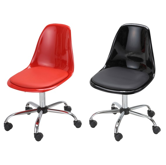 チェア デスクチェア パソコンチェア 椅子 キャスター付き  EDC-4344 EDC-4349 ガス圧 ブラック レッド おしゃれ