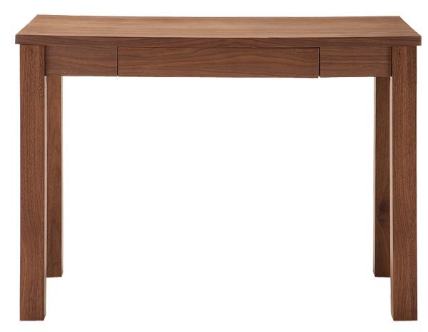 ウォルナットの気品ある木目、シンプルデザインでスタイリッシュ。幅1000mmの本格デスク。Luce Wood Desk 平机 机 ノックダウン 組立品 シンプルデスク