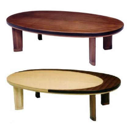 こたつ 家具調こたつ エンゼル 幅150cm 楕円 コタツ 炬燵 シンプル 楕円形 150 タモ ウォールナット 国産