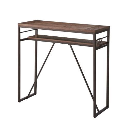 カウンターテーブル テーブル 棚付き フック付き アイアン 作業台 送料無料:北海道・東北・沖縄・離島に関しては、別途送料となります。