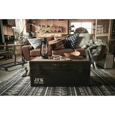 テーブル ローテーブル トランクテーブル 収納ボックス トランク型ローテーブル 幅81cm×奥行41cm×高さ36cm ネイビー ヴィンテージ 男前 おしゃれ