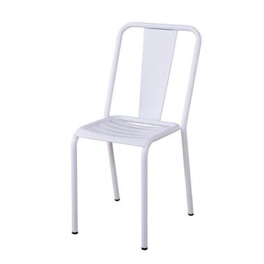 チェア ダイニングチェア 4脚セット カフェ セミナー スタッキング 一人掛け イス 椅子 肘付き ブラック スチール おしゃれ ホワイト 白