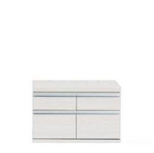 新ラチス 組み合わせ家具 ローチェスト チェスト リビング収納 75cm ジョイント ホワイトウッド(ホワイト) FLS-75S