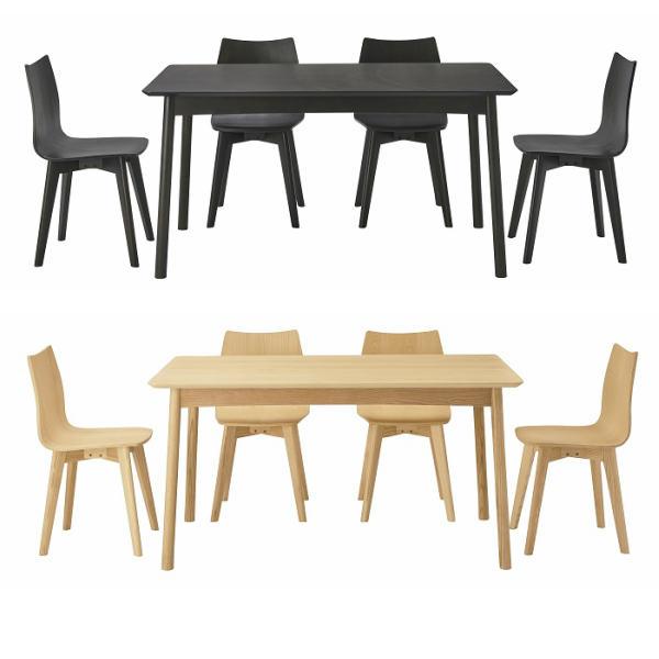 ダイニングテーブル 幅135cm ダイニングテーブルセット ダイニングテーブル5点セット 4人掛け 木製 ブラック ナチュラル シンプル モダン カジュアル おしゃれ 北欧