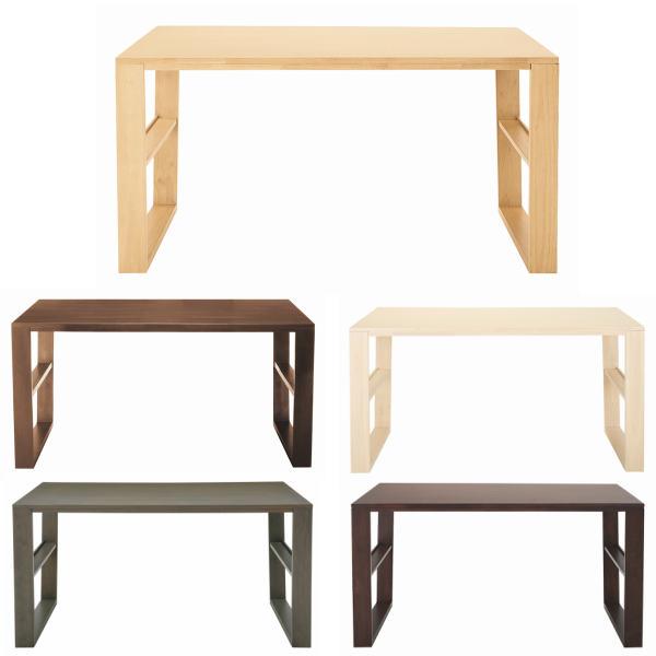 ダイニングテーブル 幅140cm スタイリッシュ 木製 木目あり おしゃれ 男前 モダン シンプル カジュアル かっこいい
