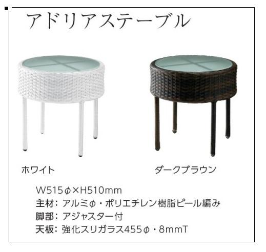 ラウンドテーブル 幅51.5 テーブル ラウンドテーブル カフェテーブル バーテーブル サイドテーブル ガラス ガーデン ナイトテーブル