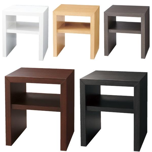 ナイトテーブル ベッドサイドテーブル 幅40cm 棚付き 収納 北欧 グレー ホワイト ダークブラウン おしゃれ 人気