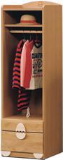 キッズ・ハンガーラック【エッグ】  子供家具 ベビー家具 洋服掛け 衣類収納 ハンガー ハンガーラック 引出し付き