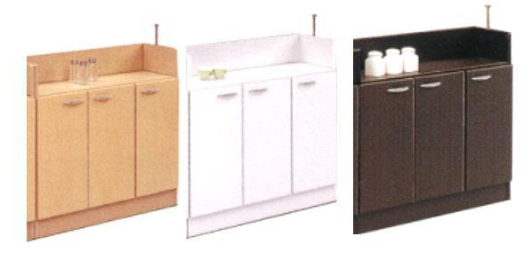 キッチンカウンター下収納90扉 90cm 扉タイプ ホワイト・ブラウン 薄型 スリム 収納家具