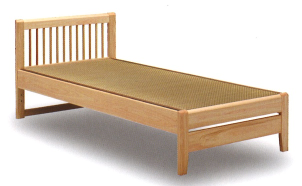 畳ベッド ベッド 木製 たたみベッド セミダブルベッド 国産 畳ベッド セミダブル セミダブルベッドフレーム 畳 桧無垢 モダン シンプル    たたみベッド 日本製