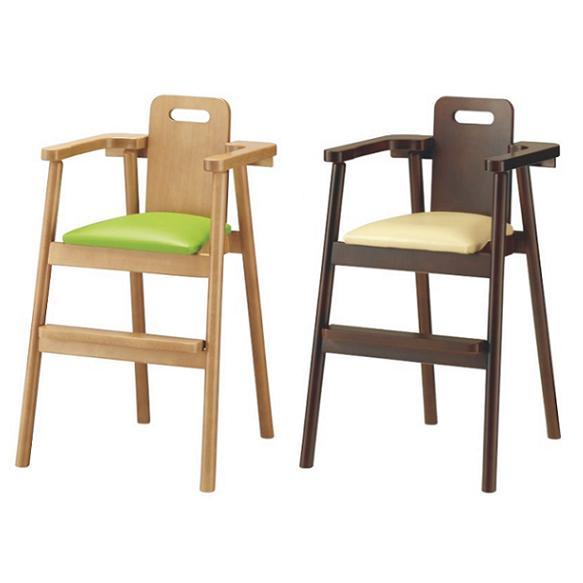 ベビーチェア ハイチェア 木製チェア 完成品 チェア 椅子 赤ちゃん キッズチェア レザー 子供チェア
