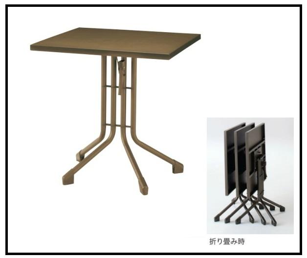 テーブル 70cm 幅70X奥70×高さ73cm 丸テーブル キッチンテーブル 折り畳みテーブル デスク バーテーブル